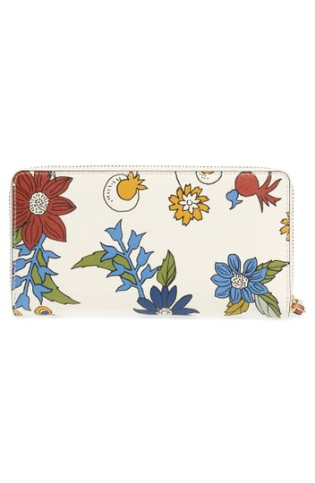 Tory Burch Robinson Floral Leather Continental Wallet Image 2