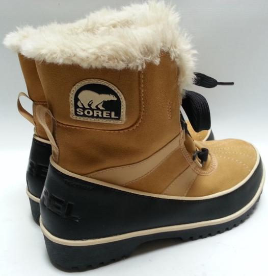 Sorel Faux-shearling Waterproof Rubber Sole Removable Insole Curry Brown Boots Image 3