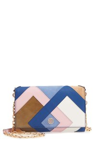 Tory Burch Robinson Colorblock Leather Wallet on a Chain