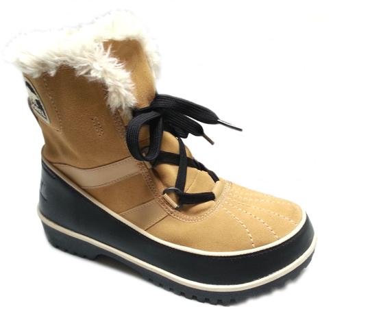 Sorel Faux-shearling Waterproof Rubber Sole Removable Insole Curry Brown Boots Image 1