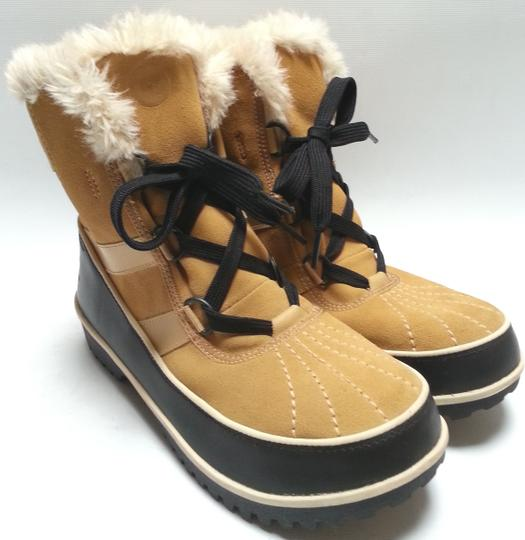 Sorel Faux-shearling Waterproof Rubber Sole Removable Insole Curry Brown Boots Image 2