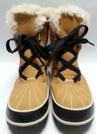 Sorel Faux-shearling Waterproof Rubber Sole Removable Insole Curry Brown Boots Image 6