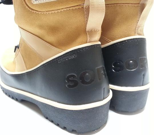 Sorel Faux-shearling Waterproof Rubber Sole Removable Insole Curry Brown Boots Image 7