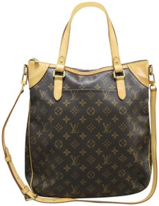 Louis Vuitton Odeon Monogram Canvas Satchel In Brown