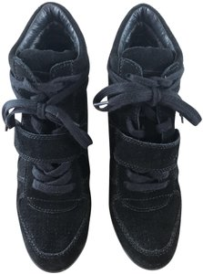 Ash Wedge Suede Sneakers Black Boots
