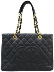 Chanel Caviar Grand Ping Tote Gst Shoulder Bag