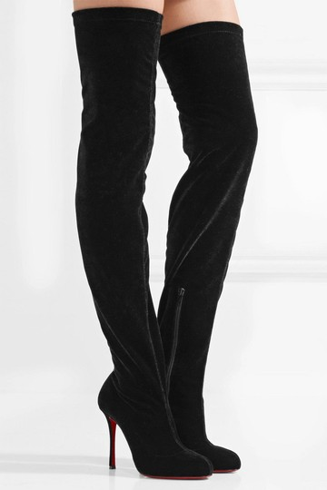 Christian Louboutin Stiletto Thigh High Otk Stretchy Classe black Boots Image 2