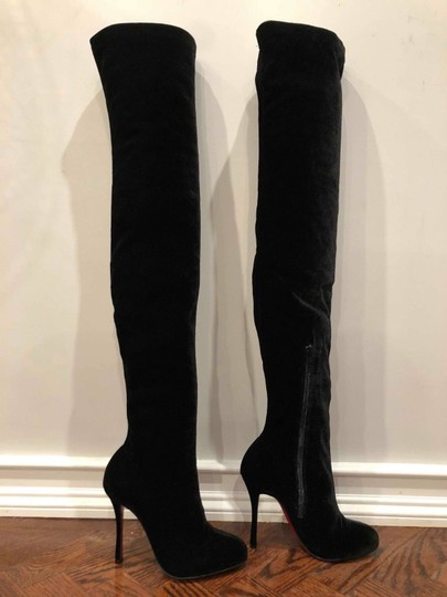 Christian Louboutin Stiletto Thigh High Otk Stretchy Classe black Boots Image 3