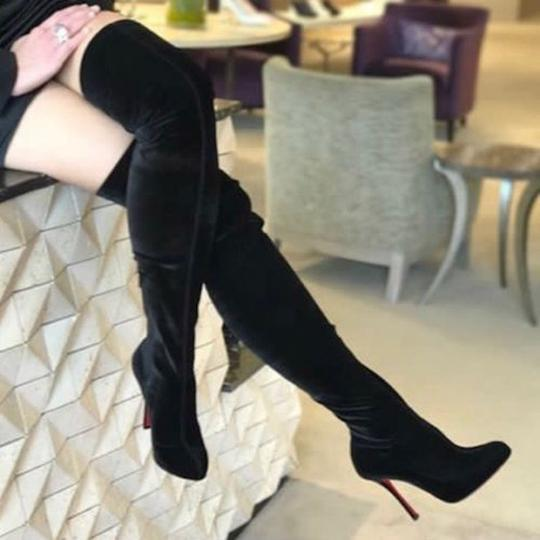 Christian Louboutin Stiletto Thigh High Otk Stretchy Classe black Boots Image 6