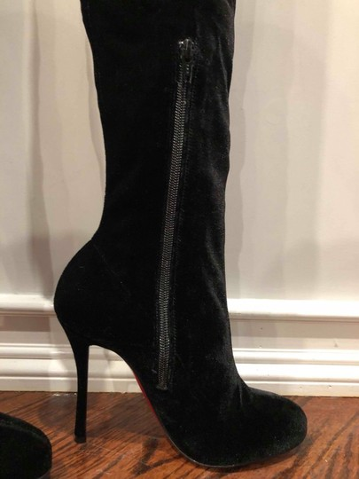 Christian Louboutin Stiletto Thigh High Otk Stretchy Classe black Boots Image 9