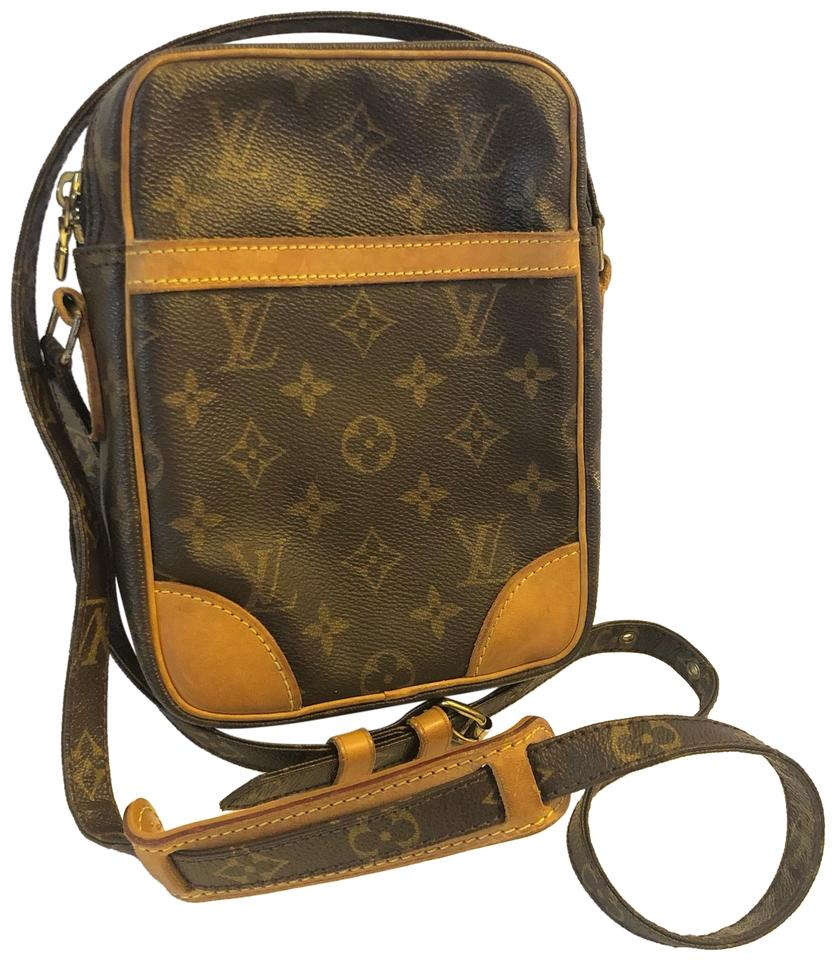 048b056382cf Louis Vuitton Danube Pm Shoulder Men Women Monogram Canvas Leather ...