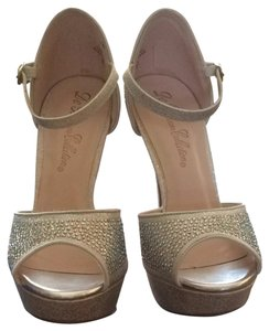 De Blossom Collection Silver Sparkle Pumps