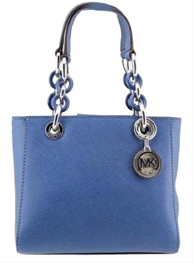 Preload https://img-static.tradesy.com/item/24540898/michael-kors-cynthia-xs-satchel-bluegold-steel-blue-saffiano-leather-cross-body-bag-0-1-540-540.jpg