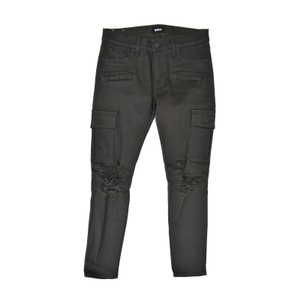 Hudson Skinny Ankle Distressed Cargo Jeans