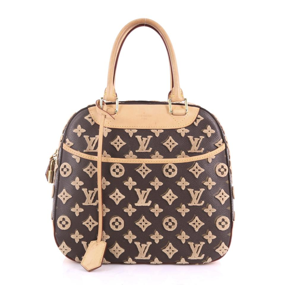 912654212f33 Louis Vuitton Deauville Cube Limited Edition Monogram Tuffe Brown Canvas  Tote