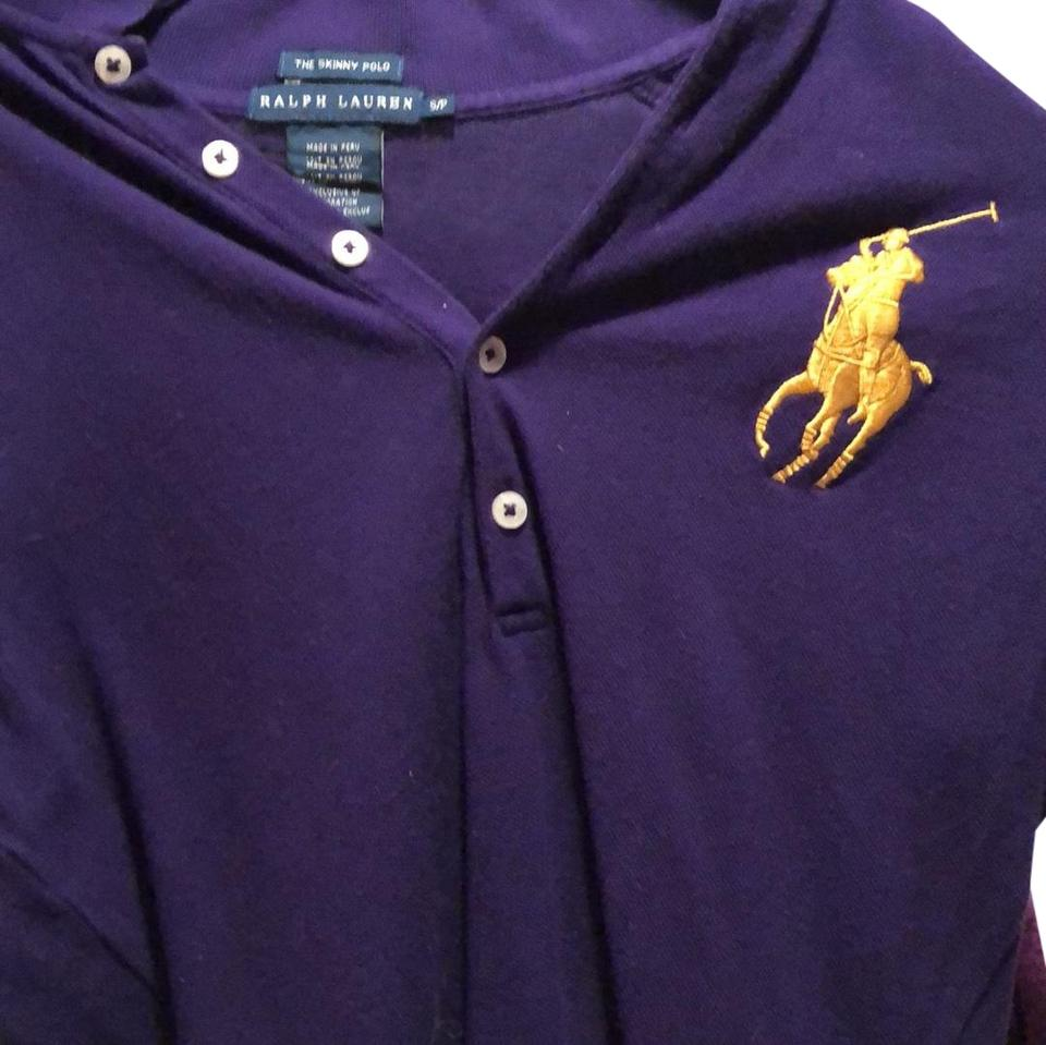 623c7a15bd Ralph Lauren Blue Label Button Down Shirt purple with yellow horse Image 0  ...
