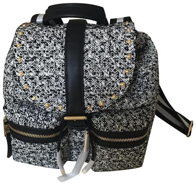 Item - Black / Grey / Silver / White Tweed Backpack