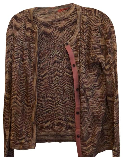 Preload https://img-static.tradesy.com/item/24541634/missoni-for-target-cardigan-matching-sleeveless-in-classic-zig-zag-pattern-brown-and-gold-sweater-0-1-650-650.jpg