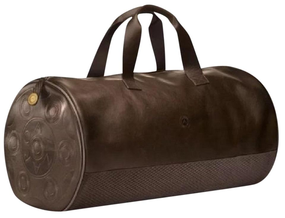 bae4379c6b14 Azzaro Handsome Duffel Mens Unisex-chocolate Faux Leather Weekend ...
