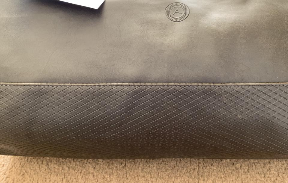 Azzaro Handsome Duffel Mens Unisex-chocolate Faux Leather Weekend ... 4beceb0e6bf8a