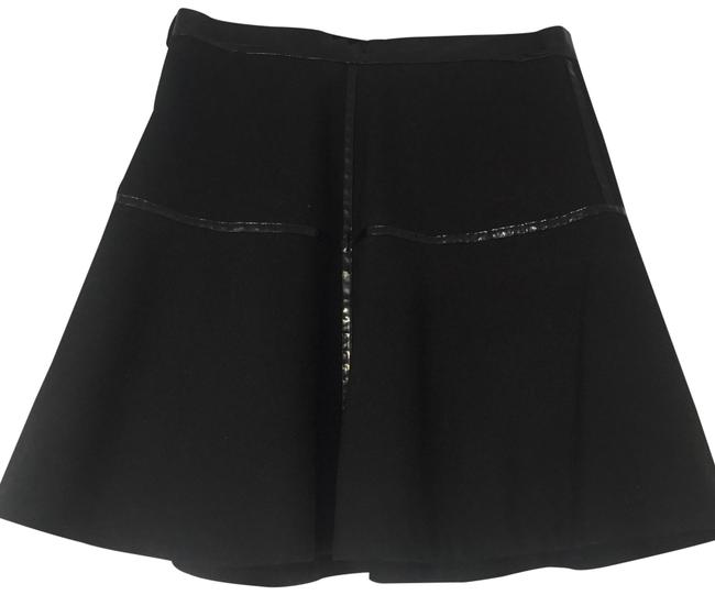 Item - Black with Black Patent Leather Detail. Wool And Skirt Size 4 (S, 27)