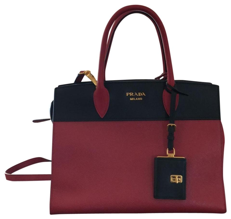 a5c642c90561 Prada Esplanade Women's And Red & Black Two Leather Tote - Tradesy