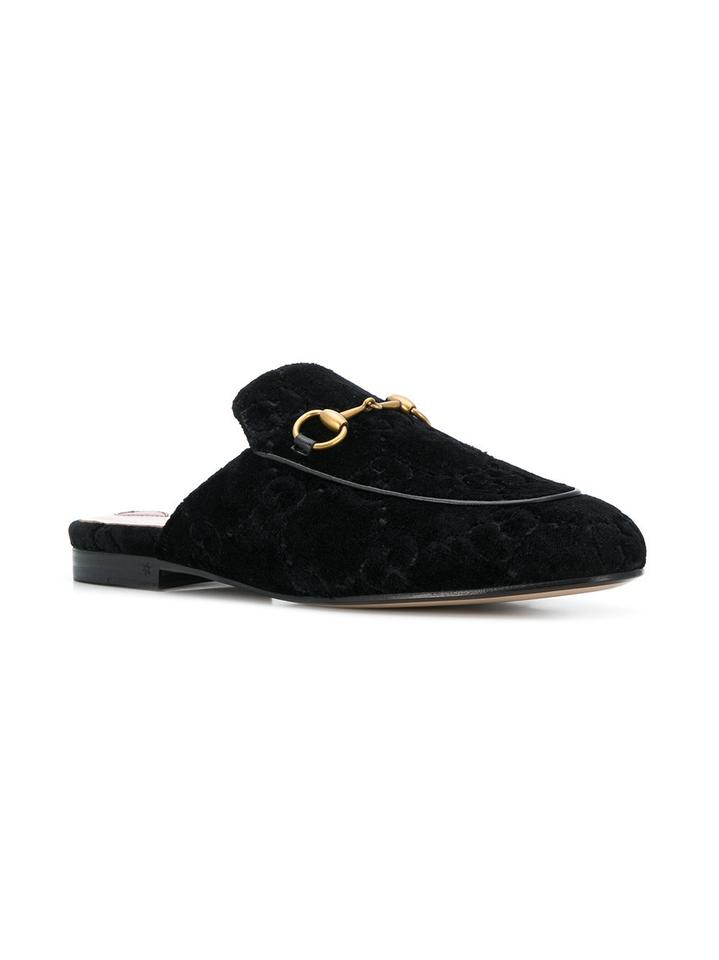 b0f57dc53 Gucci Black New Princetown Gg Velvet Loafers Slippers Mules Slides ...