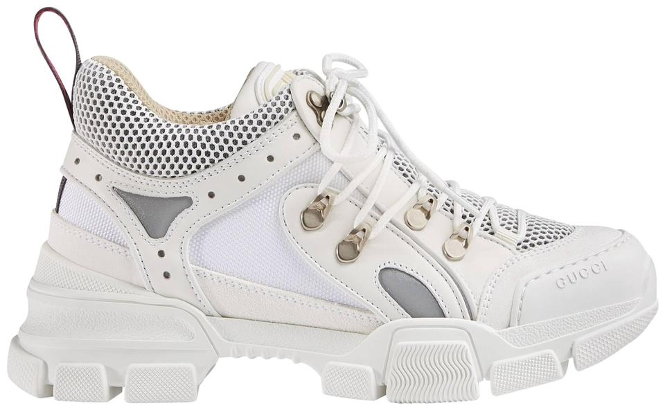 06b6c66b337 Gucci White New Flashtrek Chunky Leather Sega Multi Sneakers ...