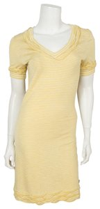Chanel short dress yellow on Tradesy