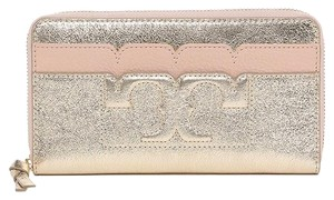 Tory Burch New Holiday Gift Metallic T Continental Leather Wallet Bag