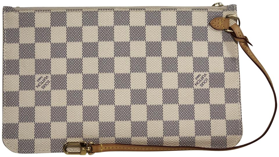 94cd6a550ff3 Louis Vuitton Lv Neverfull Neverfull Gm Pouch Damier Canvas Pouch Wristlet  in White Image 0 ...