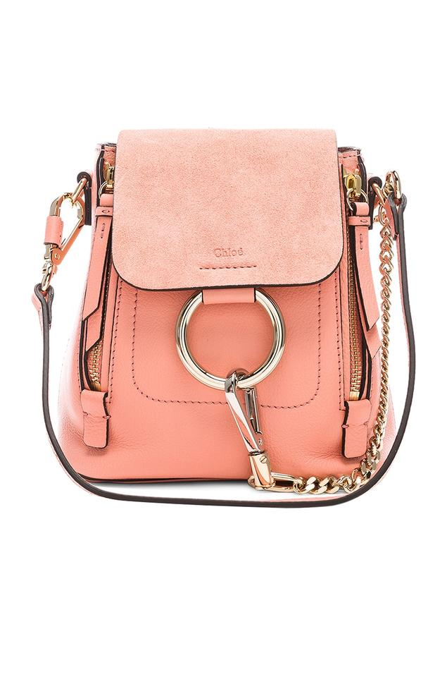 9328dfd90ae3 Chloé Faye New Mini Ideal Blush Suede Leather Backpack - Tradesy