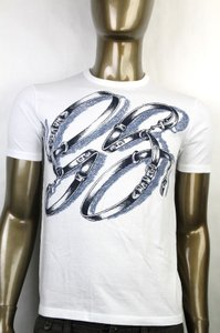Gucci White Horsebit Men's Gg Logo Belt Graphic T Top 2xl 337660 9053 Shirt