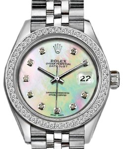 Rolex Ladies 26mm Rolex Datejust with Custom diamond Bezel and MOP Dial