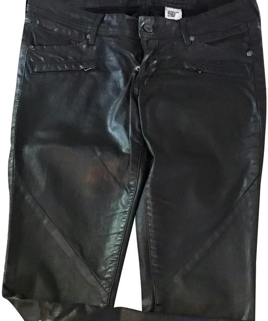 Preload https://img-static.tradesy.com/item/24542913/h-and-m-black-leather-coated-jean-cut-pants-size-8-m-29-30-0-1-650-650.jpg