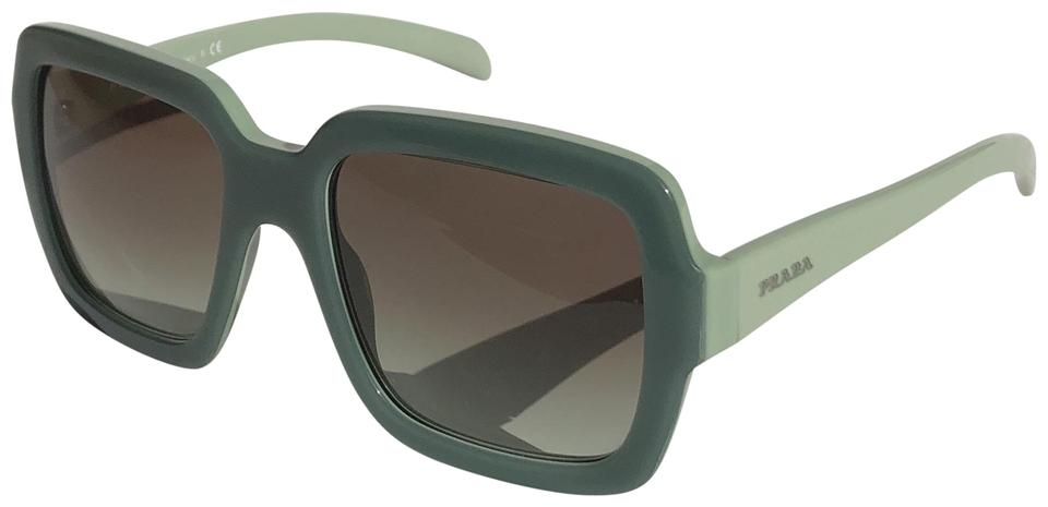e83b7e5cea2 Prada Green Vintage Large Square New Condition Spr 07r Tkq4k1 Free 3 Day  Shipping Sunglasses