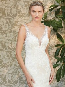 Casablanca Champagne Lace Style#2286 Also Called Ivy Feminine Wedding Dress Size 10 (M)