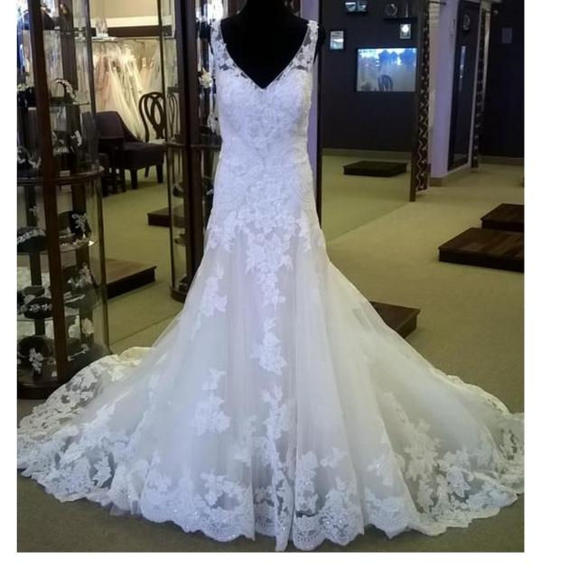 Item - Lt Champagne/Ivory Lace Style#2269 Also Called Plumeria Feminine Wedding Dress Size 20 (Plus 1x)