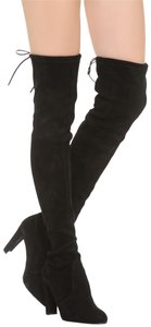 Stuart Weitzman Suede Over The Knee Tall Night Out Black Boots