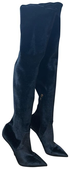 Item - Black Collodiv Velvet Over The Knee Boots/Booties Size EU 38 (Approx. US 8) Narrow (Aa, N)