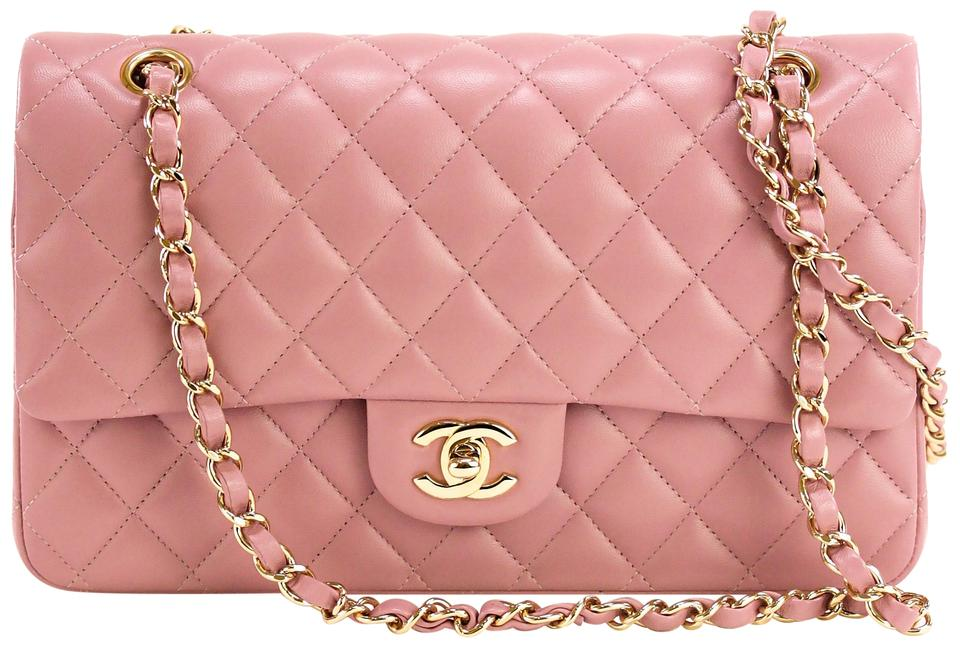 0cae5f97bb2d Chanel Classic Double Flap Medium Lilac Calfskin Leather Shoulder ...