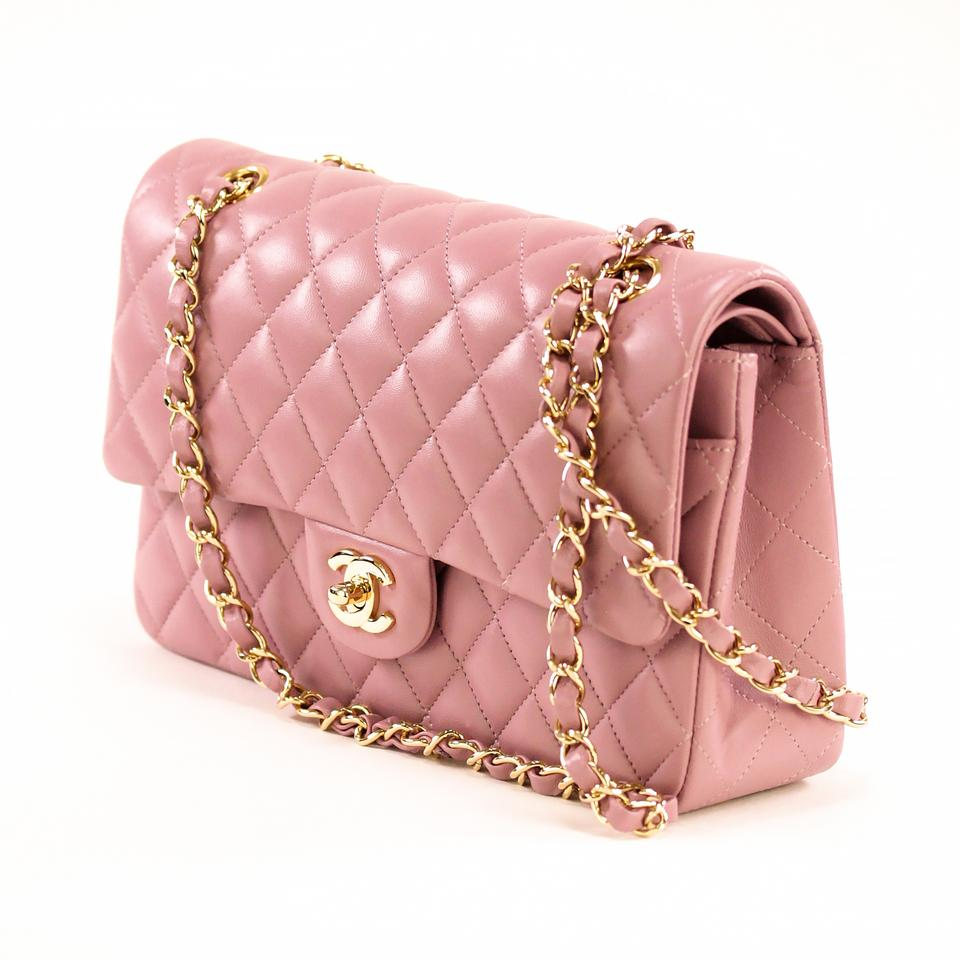 69c5d2e6cc0a Chanel Classic Double Flap Medium Lilac Calfskin Leather Shoulder Bag -  Tradesy