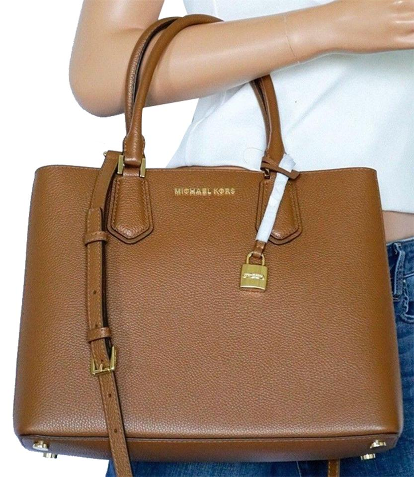 Michael Kors Adele Leather Large Satchel Luggage Ballet