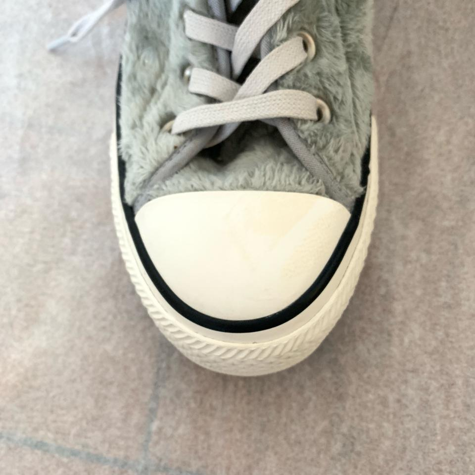 Converse Gray Free People Chuck Taylor Plush High top Sneakers Size US 7 Regular (M, B)