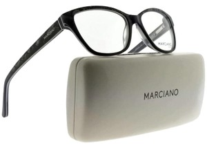 Guess By Marciano GM0280-005-51 Cat Eye Womens Black Frame Clear Lens Eyeglasses NWT