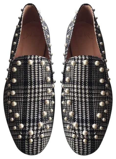 Item - Black and White With Plaid Flats Size US 8.5 Regular (M, B)