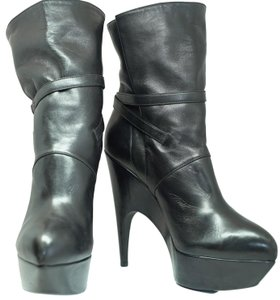 Saint Laurent Ysl Imperiale Belted Black Boots