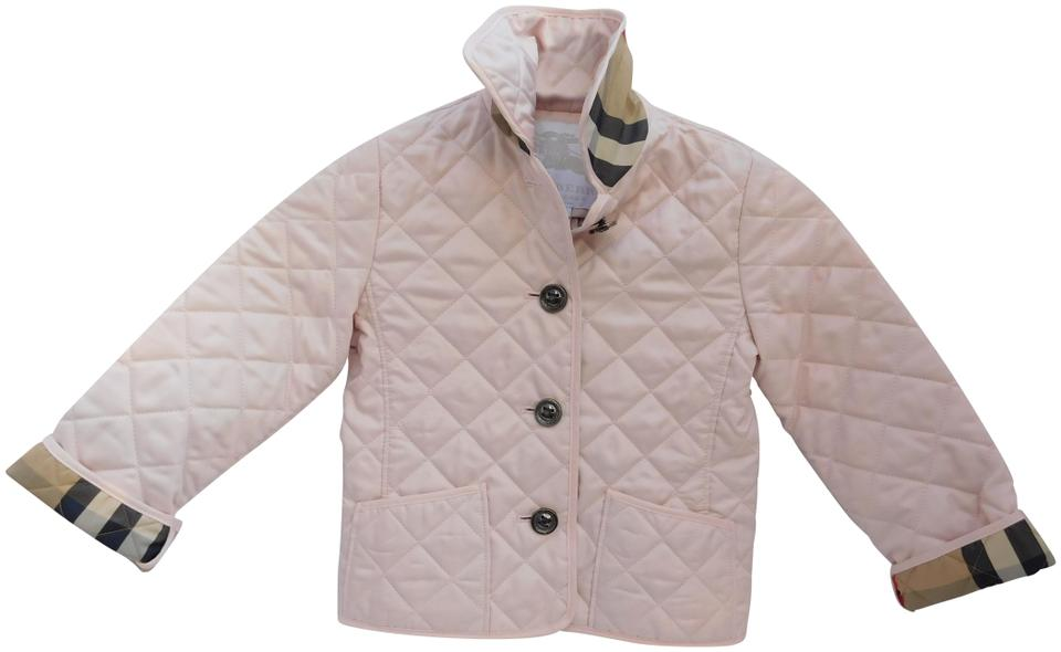 Light Pink Kids Quilted Jacket