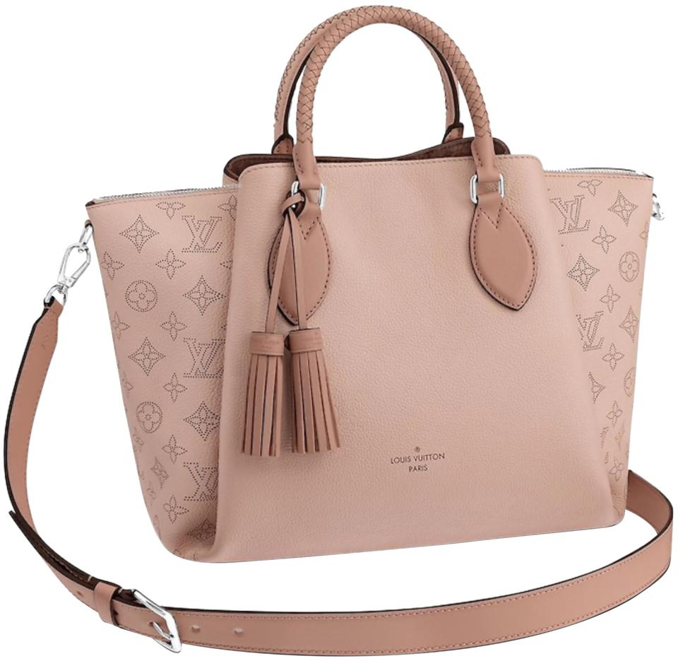 5567c9559c35 Louis Vuitton Mahina New Haumea Magnolia Tassel Shoulder Braided Handles  Work Travel 2-way M55030 Pink Leather Tote