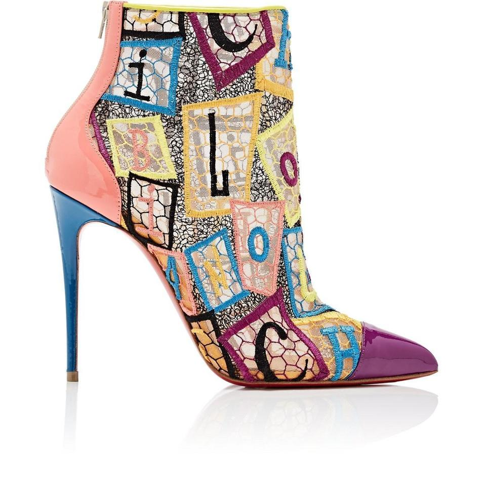 4c736643c8c Christian Louboutin Multicolor Gipsybootie 100 Embroidered Net Ankle Zip  Pumps Boots/Booties Size EU 37.5 (Approx. US 7.5) Regular (M, B) 30% off ...